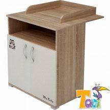 Todi Zoo 2 ajtós komód - sonoma tölgy/krém