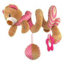 Baby Mix  spirál játek - rózsaszín maci