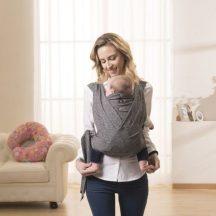 Chicco Boppy® ComfyFit csatos hordozókendő 3,5 - 15 kg Grey