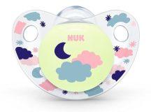 Nuk Night&Day szilikon világítós altatócumi gyűrű nélkül, 3-as 18-36 + - Clouds