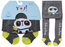 Yo! Baby pamut harisnyanadrág fiú (68-74) -  panda