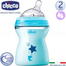 Chicco Natural Feeling cumisüveg 250ml - kék