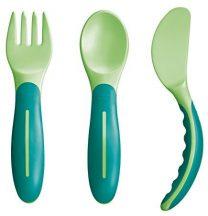Mam 6+ evéstanuló evőeszközkészlet - zöld