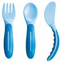 Mam 6+ evéstanuló evőeszközkészlet - kék