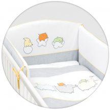 Ceba Baby 6 részes hímzett ágynemű szett - szürke elfik