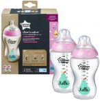 Tommee Tippee Closer To Nature 2*340ml cumisüveg 3+ - rózsaszín
