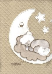 Pamut babapléd - mogyoró holdas maci - Baby Shop de80ce0fab
