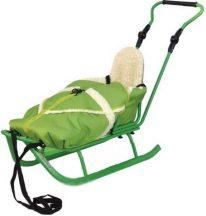 Adbor szánkó bundazsákkal - zöld