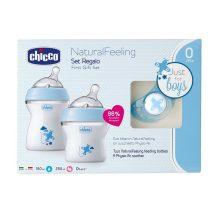 Chicco Natural Feeling cumisüveg szett - kék