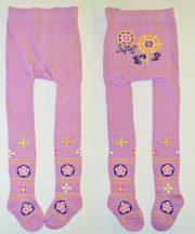 Yo! Baby pamut harisnyanadrág (92-98) - lila virág