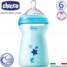 Chicco Natural Feeling cumisüveg 330ml - kék