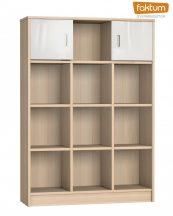 Faktum Alda Classic széles nyitott tároló - Coimbra / magasfényű  fehér