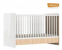 Faktum Alda Classic átalakítható 140-es babaágy rágásvédővel - Coimbra / magasfényű fehér