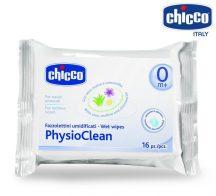 Chicco PhysioClean nedves orrtörlő-kendő - 16 db