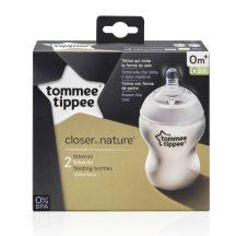 Tommee Tippee Closer To Nature 2*260ml cumisüveg - 0+