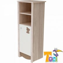 Todi Teddy keskeny nyitott polcos + 1 ajtós szekrény - szil/cappuccino/vanília