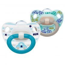 NUK Happy Days szilikon cumi  0-6 hó 2db kék