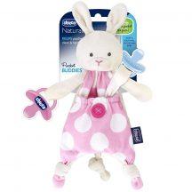 Chicco Pocket Friend szundikendő cumitartópánttal -  rózsaszín
