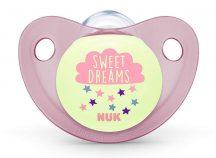 Nuk Night&Day szilikon világítós altatócumi gyűrű nélkül, 2-es méret 6-18 - Pink Sweet Dreams