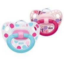 NUK Happy Days szilikon cumi  0-6 hó 2db  rózsaszín