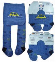Yo! Baby pamut harisnyanadrág fiú (68-74) - kék autós
