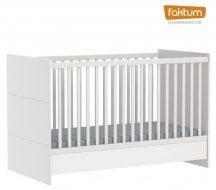 Faktum Alda Jégfehér átalakítható 140-es babaágy rágásvédővel - Fehér / magasfényű fehér