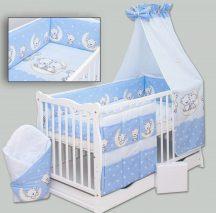 4 részes ágynemű garnitúra - Holdas macik kék