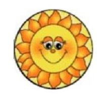 Kerek szőnyeg - Nap