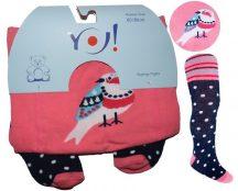 Yo! Baby pamut harisnyanadrág lány (80-86) - madár