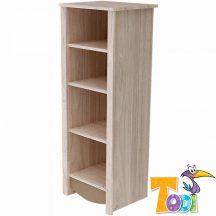Todi Teddy keskeny nyitott polcos szekrény - szil