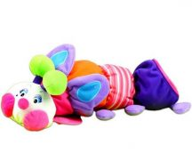 K's Kids nagy plüss kukacka - rózsaszín/lila