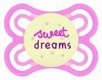 MAM Perfect Night szilikon nyugtató cumi  2-6 hó Sweet Dreams rózsaszín