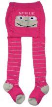 Yo! Baby frottír harisnyanadrág (80-86) - rózsaszín békás