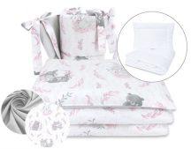 5 részes babaágynemű - Lulu rózsaszín