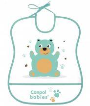 Canpol babies  műanyag előke - macis