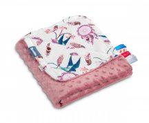 Sensillo kétoldalas babapléd 75x100cm - rózsaszín álomfogó