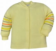 Pamut kocsikabát 74-es sárga csíkos