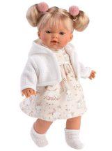 Llorens:Roberta síró baba nyuszis ruhában (33 cm)