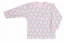 Pamut kocsikabát 62-es rózsaszín mintás