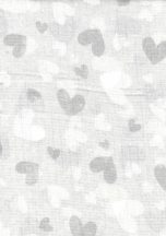 1db-os  mintás textil pelenka szürke - szívecske