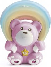 Chicco Rainbow Bear - Szivárvány maci zene-fény projektor 0h + rózsaszín