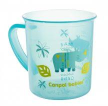 Canpol babies műanyag pohár fogóval, mikrózható,170 ml - kék