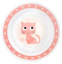 Canpol babies műanyag tányér - rózsaszín cica