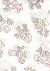1db-os mintás textil pelenka - rózsaszín star