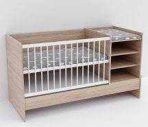 Baby Shop Basic – kombiágy (ágyneműtartó nélkül) sonoma tölgy
