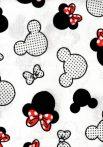 Flanel mintás pelenka - Minnie piros masnival