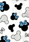 Flanel mintás pelenka - Minnie kék masnival