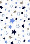 Flanel mintás pelenka - csillagok kék-szürke