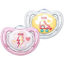 NUK Freestyle szilikon cumi 18-36 hó 2db rózsaszín rögkori