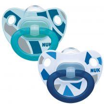 NUK Happy Days szilikon cumi 6-18 hó 2db  kék /türkiz